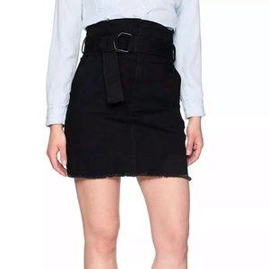 Madison EVA Paper Bag Skirt Denim Large Black